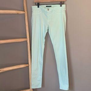 Flying monkey skinny pants mint green 5 pocket 30